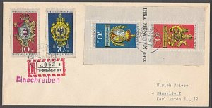 GERMANY 1973 Registered cover - nice franking...............................B370