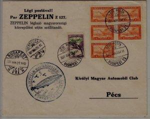 Hungary Zeppelin cover 28.3.31 Budapest-72