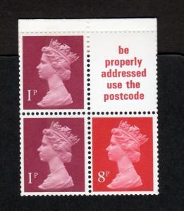 10p 'LONDON 1980' JANUARY 1980 BOOKLET CHAMBON MISCUT MCC £350 SG £475