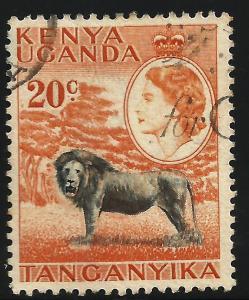 Kenya, Uganda, Tanzania 1954-59 Scott# 107 Used