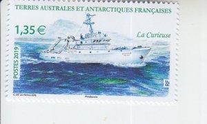 2019 FSAT Fr Antarctic La Curieuse Ship (Scott 618) MNH