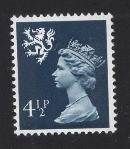 Great Britain Scotland  #SMH4  4 1/2p   MNH Q E II   Machin