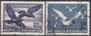 Austria #C54, C56  F-VF Used  CV $11.10  (A18551)