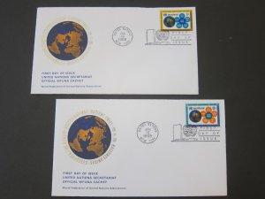 United Nations (NY) 1968 Sc 181-2 FDC