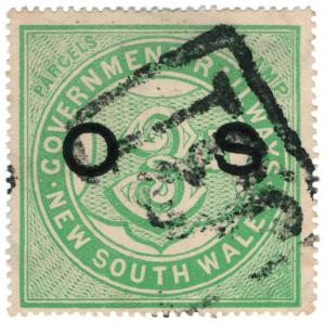 (I.B) Australia - NSW Government Railways : Parcels Stamp 3d (Official Service)