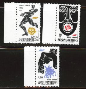 Brazil Scott 1230-1232 MNH** 1972 stamp set CV$7.25