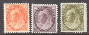 CANADA #82-83-84 MINT F-VF -- *NUMERAL* ISSUE HIGH VALUE C$1650.00