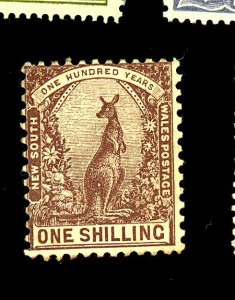 NEW SOUTH WALES #82B MINT FINE OG LG REPAIRED PERF Cat $58