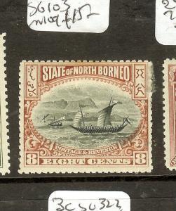 NORTH BORNEO (P0208B) 8C BOAT  SG103  MOG