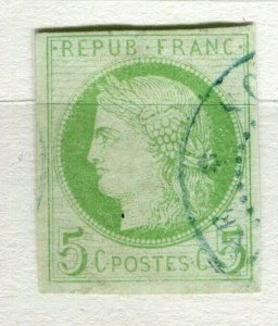 FRENCH COLONIES; 1870s classic Ceres Imperf issue used 5c. value