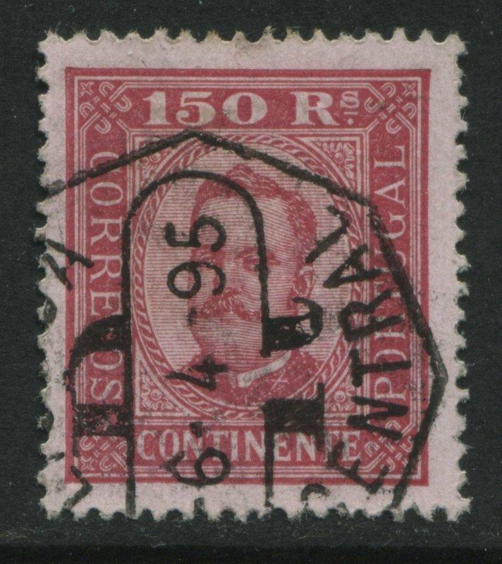 Portugal 1893 150 reis rose  perf 13 1/2 CDS used