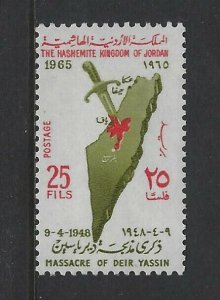 JORDAN - #499 - DEIR YASSIN MASSACRE MINT STAMP (1965) MNH
