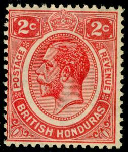 BRITISH HONDURAS SG128, 2c rose-carmine, M MINT. Cat £12.