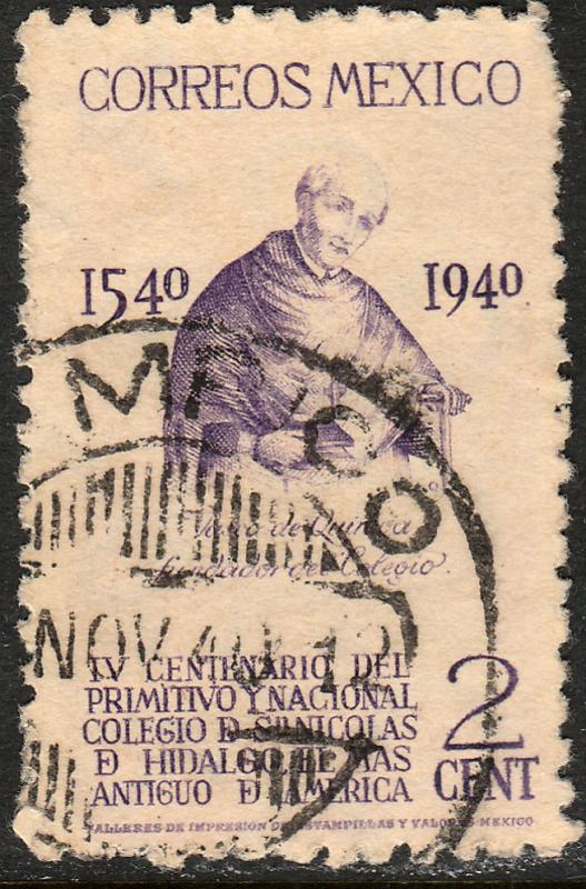 MEXICO 760, 2c School of San Nicolas, 1st in America Used. F-VF.  (684)