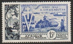 French West Africa Sc #C17 Mint LH; Mi #65