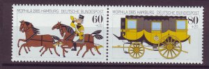 J25212 JLstamps 1985 germany set pair mnh #b635a horses