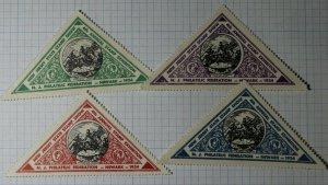 NJ Stamp Show Exhibition Newark 1934 Philatelic Souvenir Ad Labwl