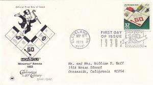 1998, Monopoly Arrives 1933, PCS, FDC (E11357)