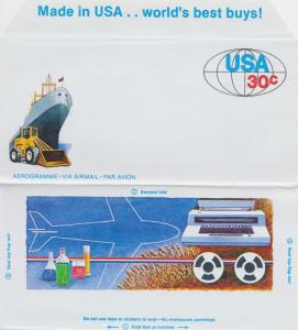 U.S. Postal Aerogrammes - See Scan