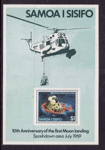 Samoa MNH S/S 512a 10th Anniversary Moon Landing  1979