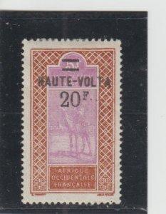 Burkina Faso  Scott#  42  MH  (1927 Surcharged)