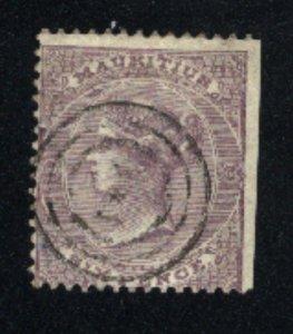 Mauritius 27   Used 1860-63 PD