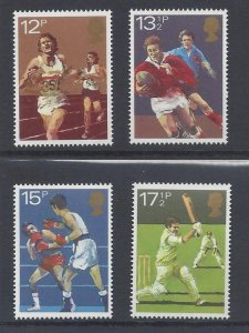 Great Britain MNH 924-7 Sports