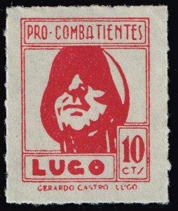 SPAIN STAMP LUGO Civil War War Period Local Stamp 10C RED MNH