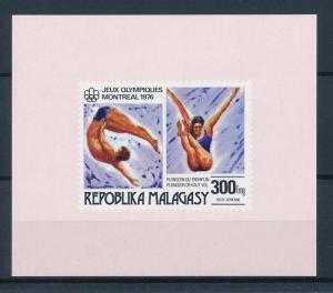 [55778] Madagascar 1976 Olympic games Montreal Diving MNH Sheet
