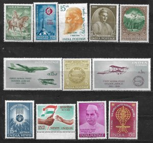 COLLECTION LOT OF 12 INDIA MH 1959+ STAMPS CV+ $20