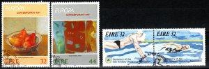 Ireland #895-6, 899-900  F-VF Used CV $6.00 (X5613)