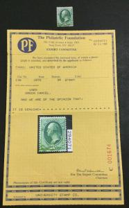 MOMEN: US #136 GRILLED GREEN CANCEL USED #26400