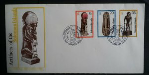 Solomon Islands stamps 1978 Ceremonial Artifacts FDC