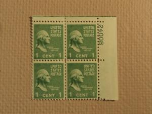 USPS Scott 804 1c George Washington 1789-1797 1938 Mint N...