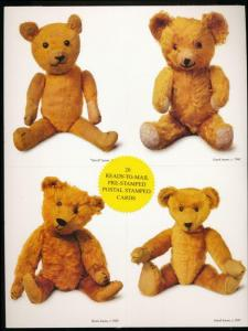 UNITED STATES: UX382-UX385 TEDDY BEARS POSTAL CARDS