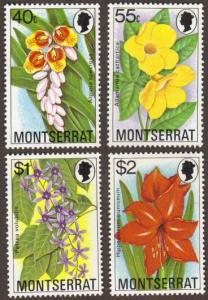 Montserrat #389-92 MH cpl flowers