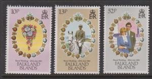 Falkland Islands Sc#324-326 MH