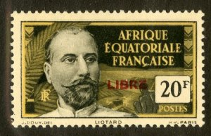 FRENCH EQUATORIAL AFRICA 124 MH SCV $4.00 BIN $1.75 PERSON