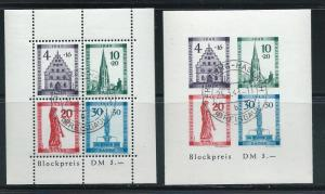 Germany Baden 5NB8a-8b Historic Monuments s.s. CTO NH