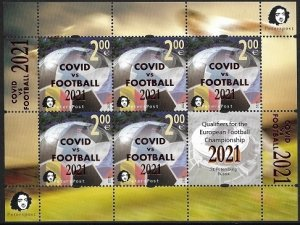 Russia. Finland. 2021. - Finland. 2021. Peterspost. The overprint COVID vs FOOT
