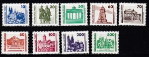 Germany DDR # 2832-2840, Castles & Other, NH, Half Cat.