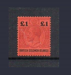 Solomon Islands 1914 KGV ?1 SG 38 MLH