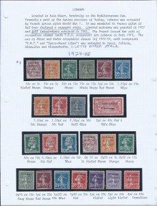 LEBANON USED  SCV $120.00 1924-1925 STARTS @25% OF CAT VALUE