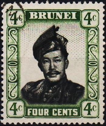 Brunei. 1952 4c. S.G.103 Fine Used