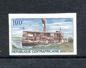 Central Africa C62 MNH River Boat 1968 Imperforated.x27775