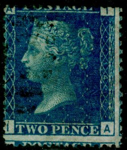 SG47, 2d dp blue plate 14, USED. Cat £38. IA