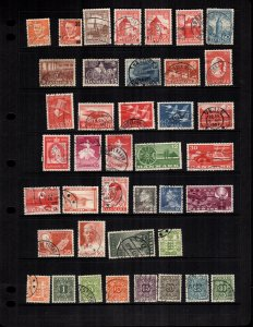 Denmark  34 diff  mint and used stamps