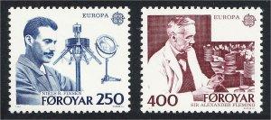 Faroe Islands 1983 Europa Nobel Prize Winners in Medicine #95-96 YT 78-79 MNH
