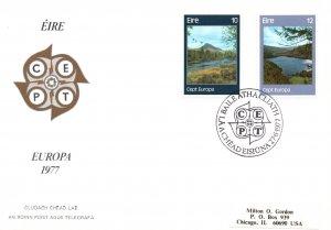 Ireland 413-414 Europa Typed FDC