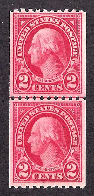 606 Mint,OG,NH... Line Pair... SCV $5.00